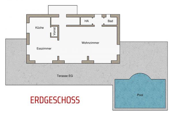 Villa Diminici - Grundriss Erdgeschoss