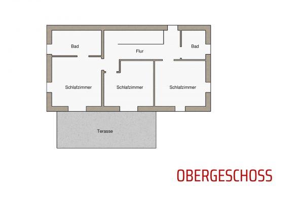 Villa Diminici - Grundriss Obergeschoss